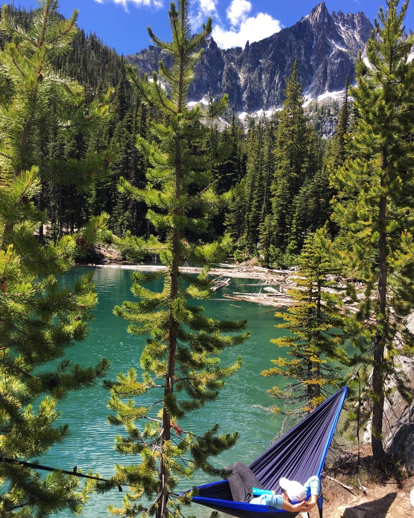 snow lake campsite